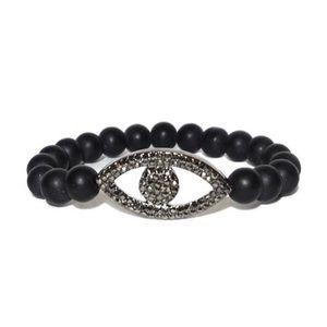 Marlyn Schiff Pave Evil Eye Stretch Bracelet NWOT